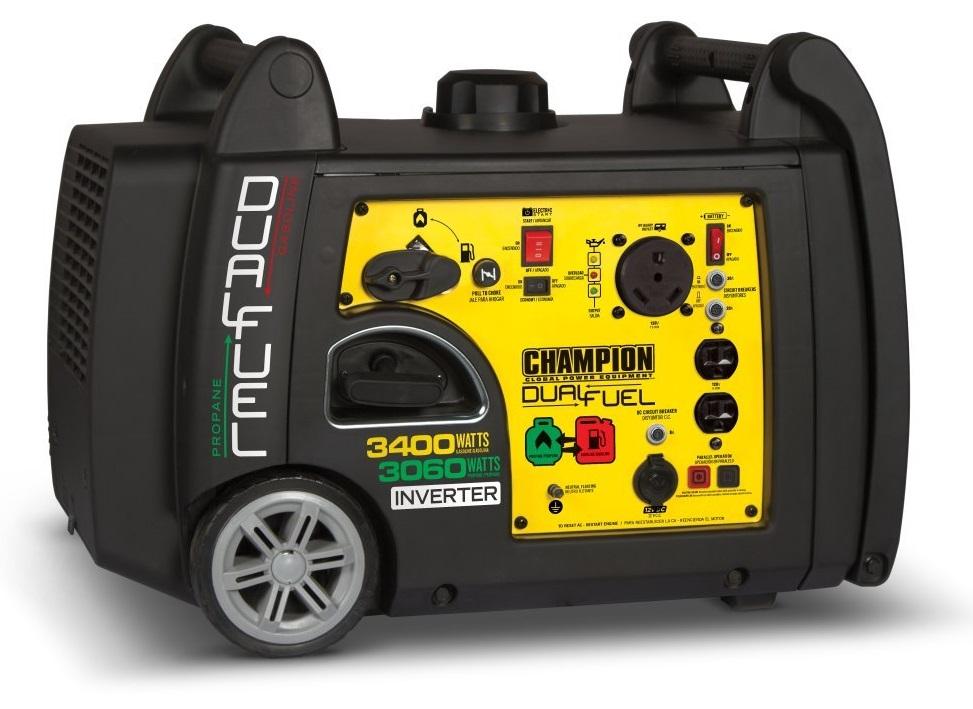 Champion 3400-Watt Dual Fuel Camping Inverter Generator