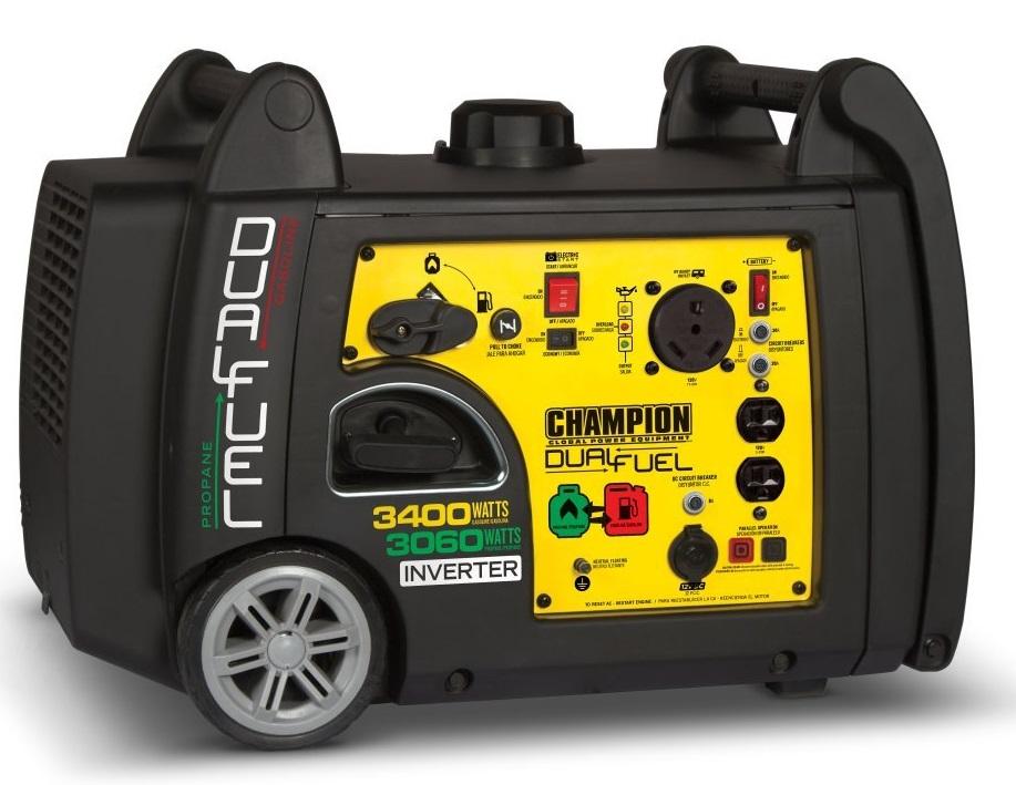 Champion 3400-Watt Dual Fuel Inverter Generator