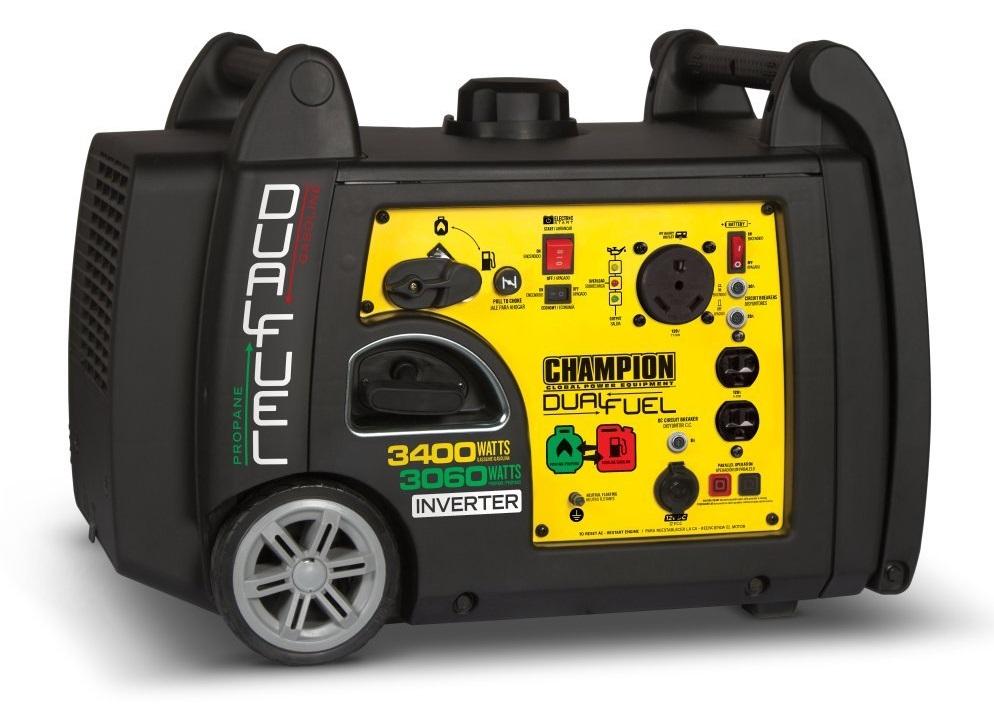 Champion 3400-Watt Dual Fuel Quiet Inverter Generator