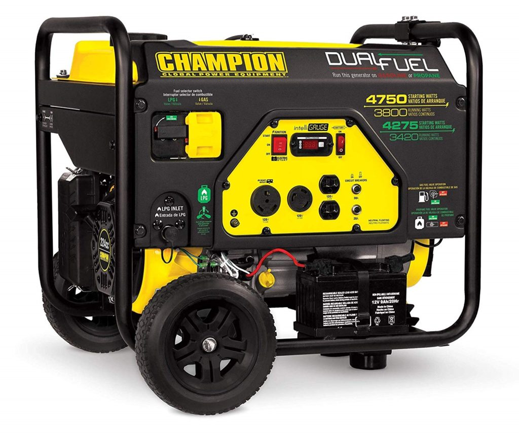 Champion 3800-Watt Dual Fuel Generator