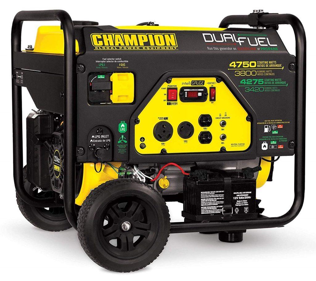 Champion 3800-Watt Dual Fuel Portable Generator