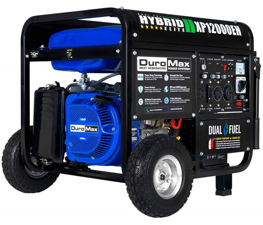 DuroMax Dual Fuel 12000 Watt Whole House Generator