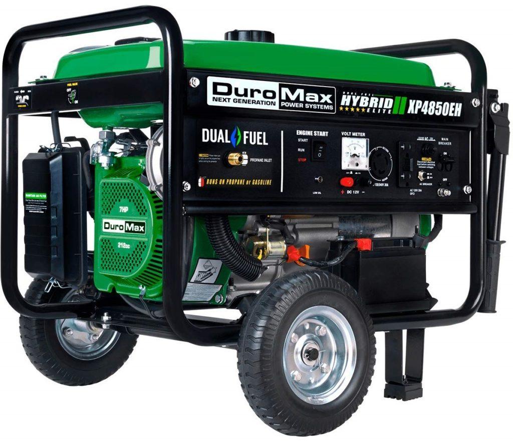 Duromax 4850 Watt Propane + Gasoline Generator