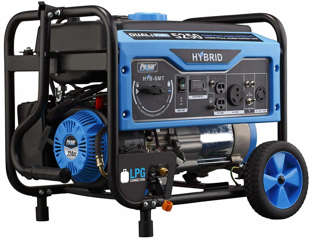 Pulsar 5250W Dual Fuel Portable Generator