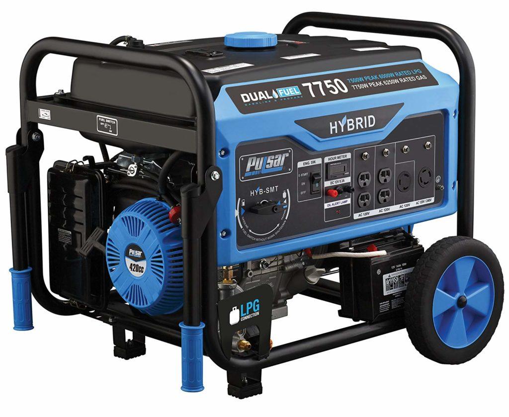 Pulsar 7750W Dual Fuel Whole House Generator