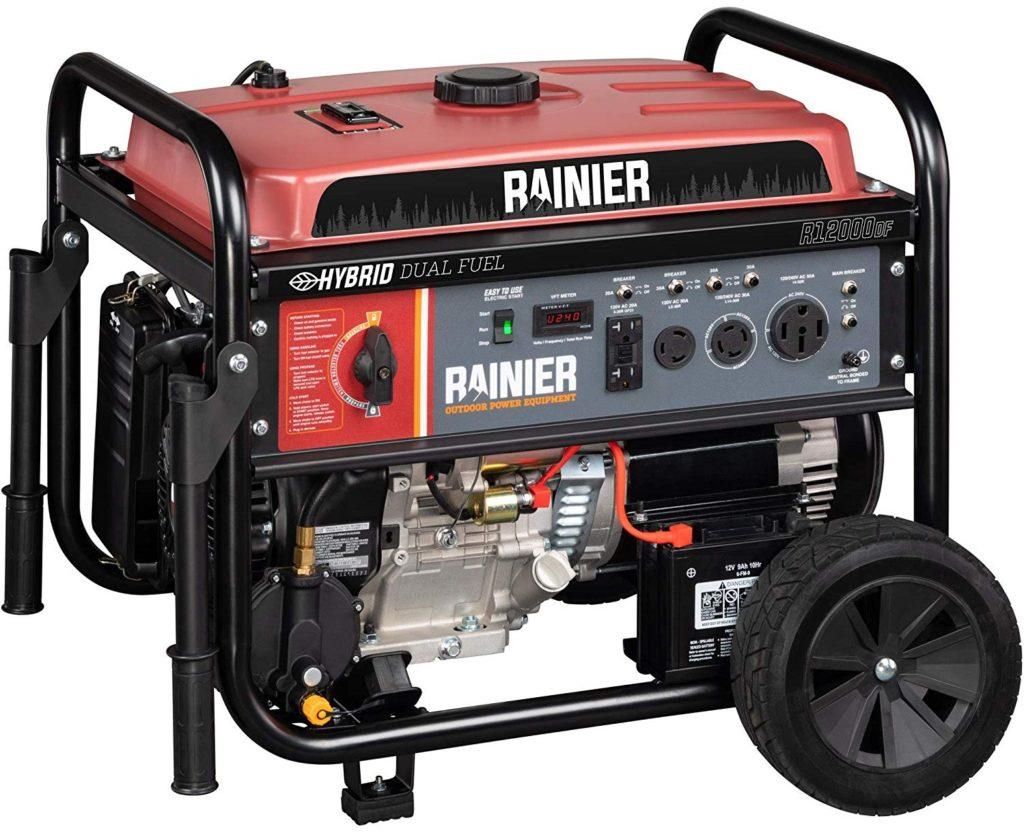 Rainier Dual Fuel 12000 Watt Whole House Generator