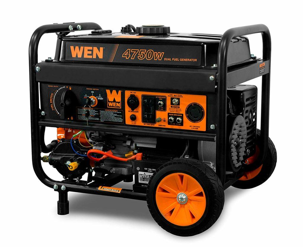 WEN DF475T 4750-Watt Dual Fuel Generator