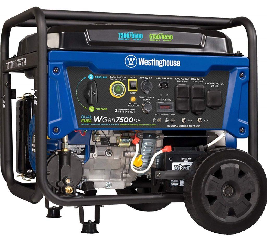 Westinghouse WGen7500DF Propane Generator
