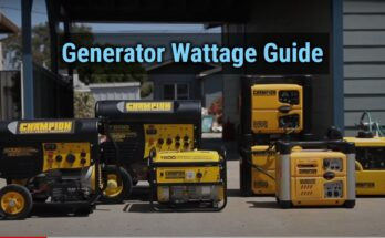 Generator Wattage Guide