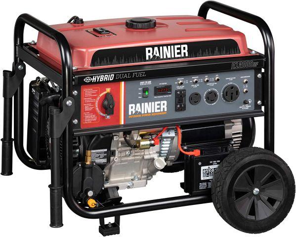 Rainier R12000DF Dual Fuel Portable Generator