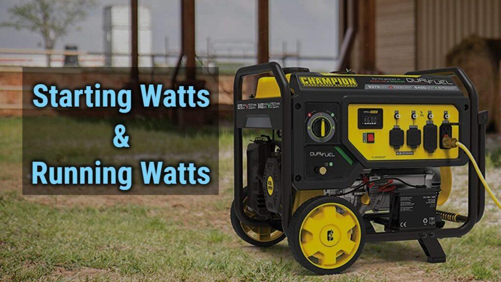 Starting watts and running watts