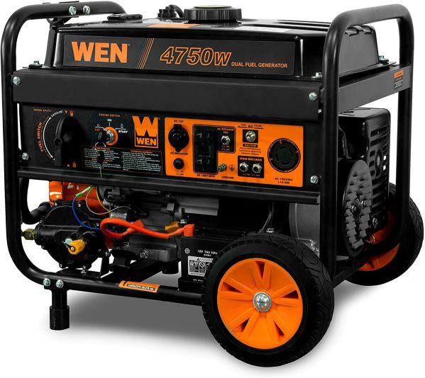 WEN DF475T 120V 240V Dual Fuel Portable Generator